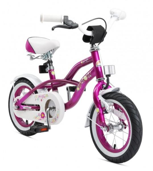 Bikestar Premium Kids Bike Cruiser 12'' creamy violett