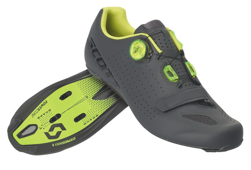 Scott Shoe Road Vertec Boa matt grey neon yellow