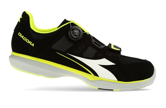 Diadora Gym Indoor Schuh Black/fluo yellow/white