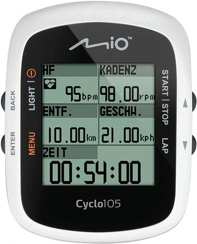 Mio Cyclo 105 Trainingscomputer mit GPS Funktion