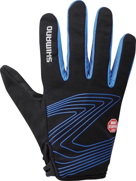 Shimano Windstopper Thin Handschuhe blau %