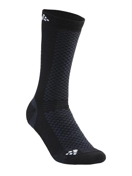 Craft Warm Mid 2- Pack Socks black/white