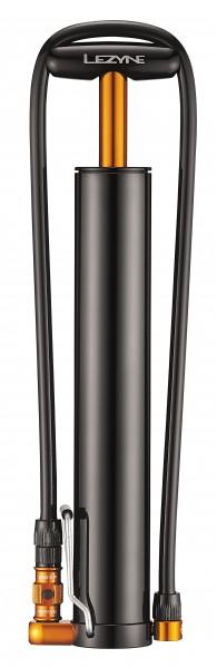 Lezyne Micro Floor Drive XL Minipumpe schwarz-glänzend