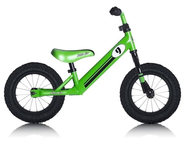 """Lernlaufrad Rebel Kidz 12,5"""" Air - Stahl Racing grün"""