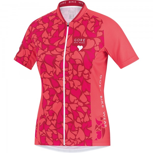 Gore Bike Wear E Lady Love Camo Jersey jazzy pink/coral red %