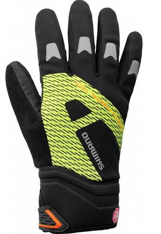 Shimano Windstopper Thermo-Handschuh reflektierend schwarz/neon gelb %