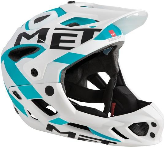 Met Parachute MTB-Helmet white/cyan