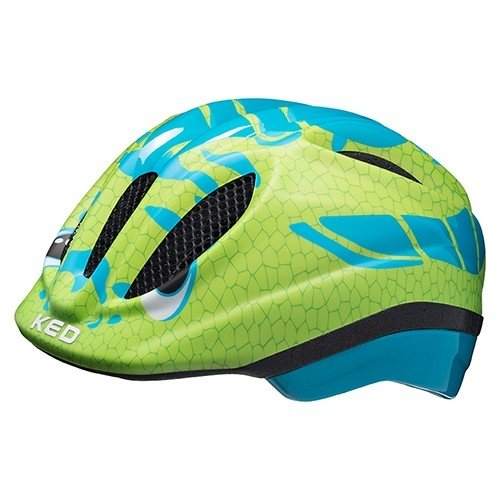 KED Meggy Trend II Kinder Helm dino light blue green