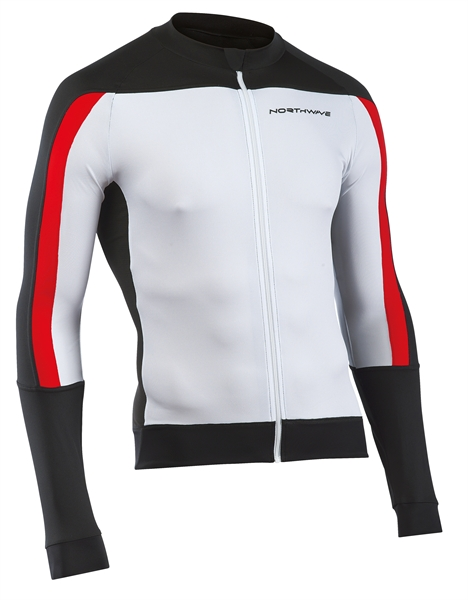 Northwave Sonic Jersey Long Sleeves white/black