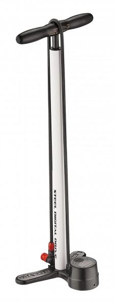 Lezyne Steel Digital Drive Standluftpumpe weiß-glänzend