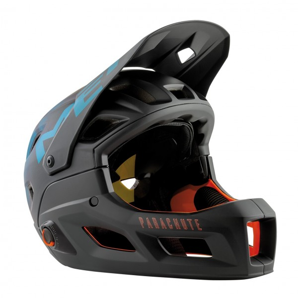 MET Parachute MCR MIPS Helmet Black Petrol Blue Matt