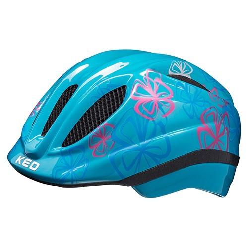 KED Meggy II Trend Kinder Helm light blue flower