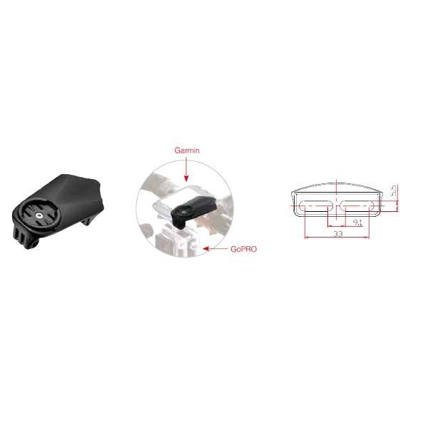 Pro1 ST Multi Lenkerhalterung für Garmin+GoPro schwarz