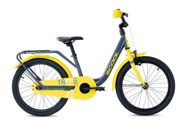 S´COOL niXe 18 Stahl 1-Gang grey/yellow glossy