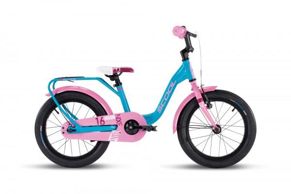 S´COOL niXe 16 Aluminium 1-Gang turquoise/pink