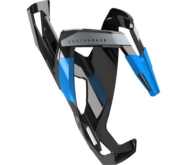 Elite Custom Race Plus Flaschenhalter schwarz/blau glänzend