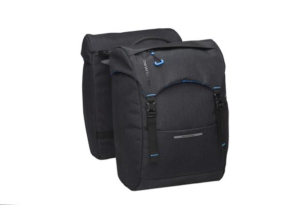 New Looxs Fahrradtasche Sports RACKTIME 30 Liter Schwarz Doppeltasche für Gepäckträger