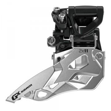 SRAM GX Umwerfer 2x10-fach - Mid DM - 22/36 und 24/38 Zähne - Top Pull