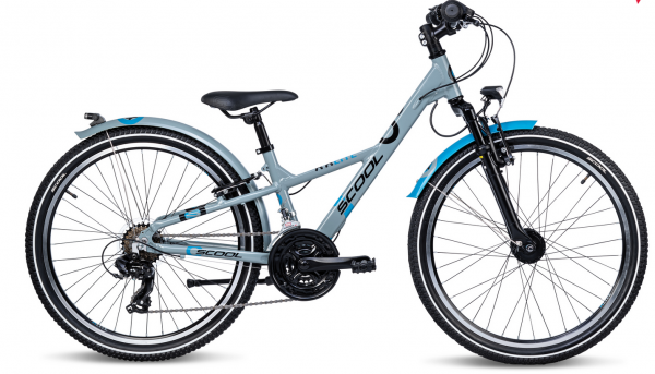 S´COOL XXLite 24 alloy 21-speed grey/petrol