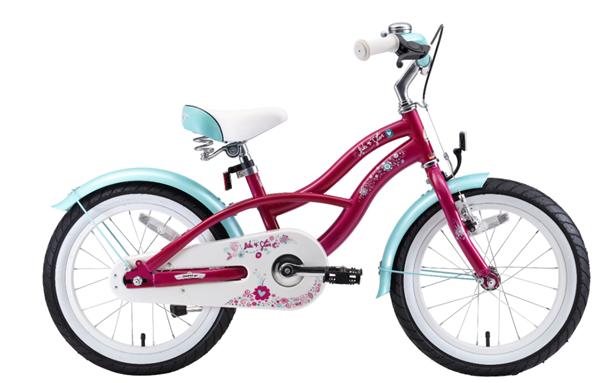 Bikestar Premium Kids Bike Cruiser 16'' creamy violett