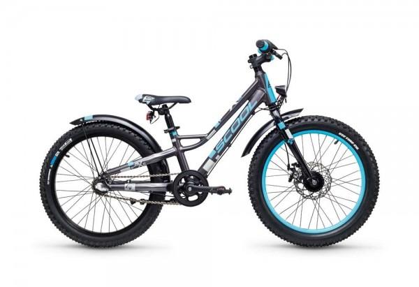 S´COOL faXe 20 Aluminium 3-Gang darkgrey/blue matt