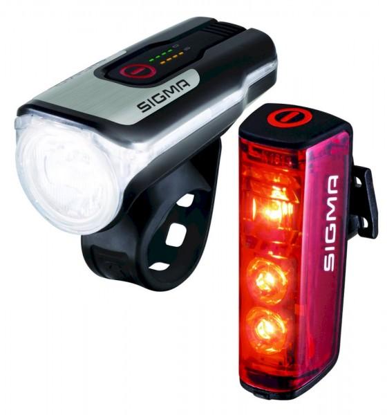 Sigma Beleuchtungsset Aura 80 USB + Blaze mit StVZO-Zulassung ( 17860)