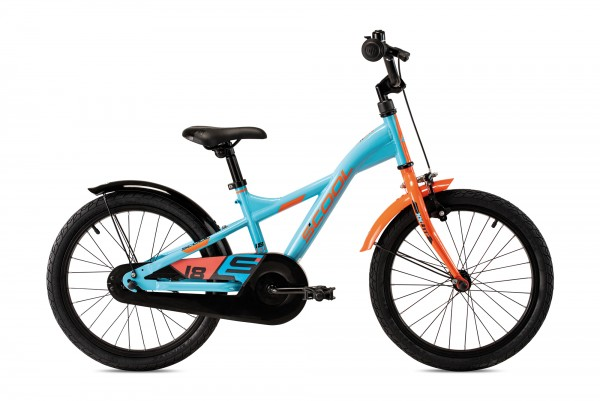 S´COOL XXlite 18 steel 1-speed petrol/orange