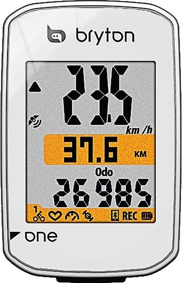 Bryton Rider one E GPS Fahrradcomputer Weiß