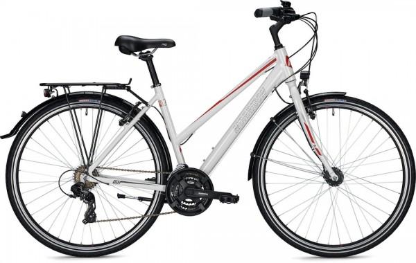 """Morrison Trekkingbike T 1.0 Trapez Damen 28"""" glänzend weiß 44 cm"""