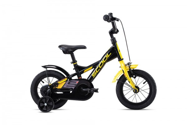 S´COOL XXlite 12 Stahl 1-Gang black/yellow matt