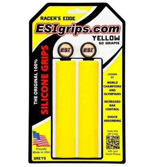 ESI Racer´s Edge yellow Grips Silicon