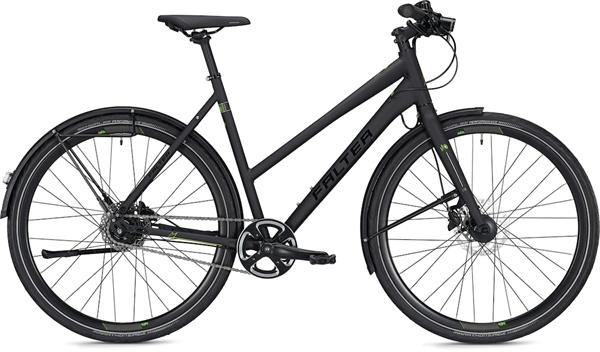 "Falter City/Urbanbike U 6.0 Trapez S (45) 28"" Matt schwarz"