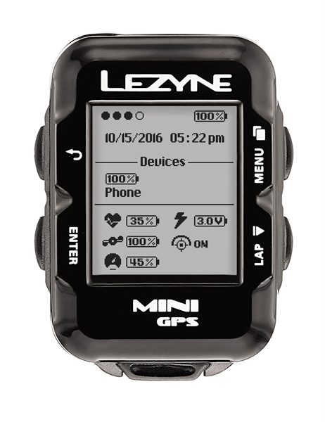 Lezyne bike computer mini GPS with heart rate monitor black
