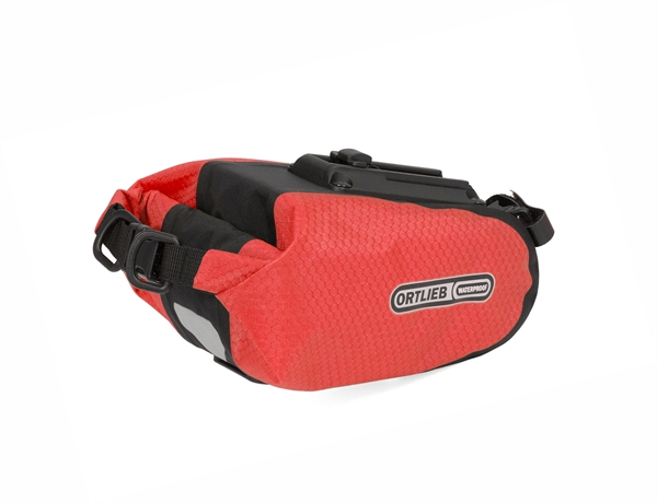 Ortlieb Saddle-Bag signal red-black