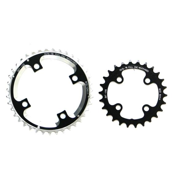 Fun Works N-Light Chainwheel for MTB 2X Crank 104/64