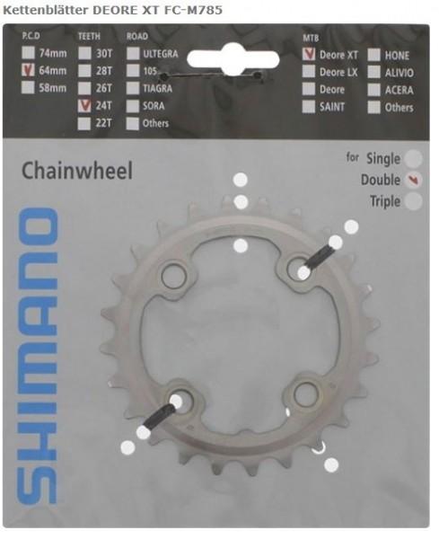 Shimano XT FC-M785 10-speed chainring 24 teeth