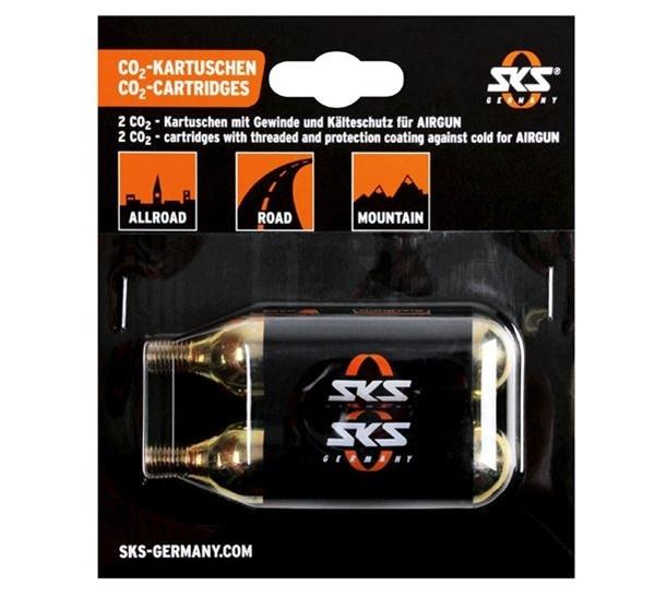 SKS CO2 Patronen Set 24 Gramm mit Gewinde für Airgun