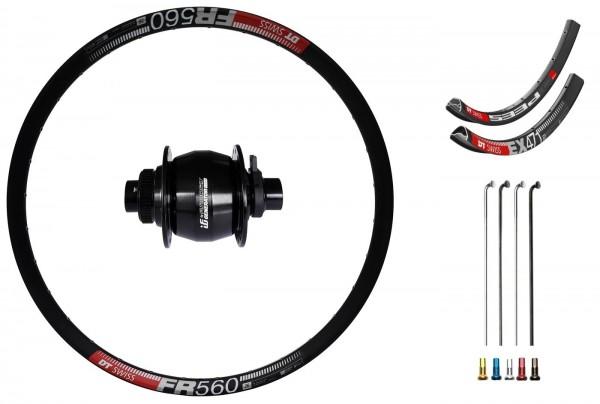 "Fun Works Generator 3Way Hub Dynamo Disc CL Custom Front Wheel MTB 26"""