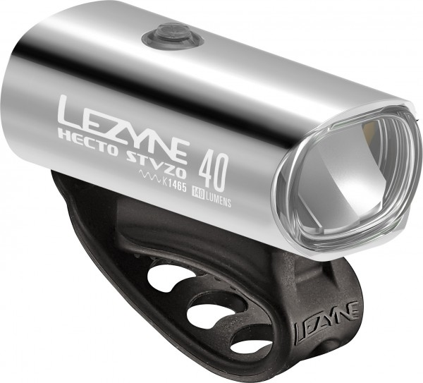 Lezyne Hecto StVZO 40 silver-gloss white light, Y11