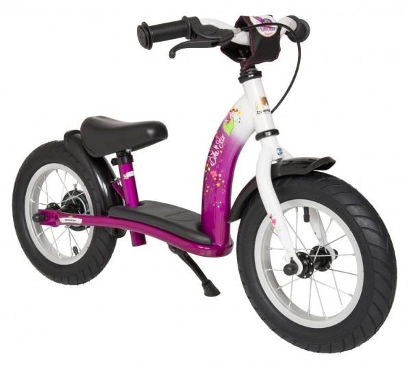 Bikestar safety children's wheel bike Classic 12'' charming berry & diamond white