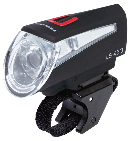 Trelock front light LS 450 with batteries