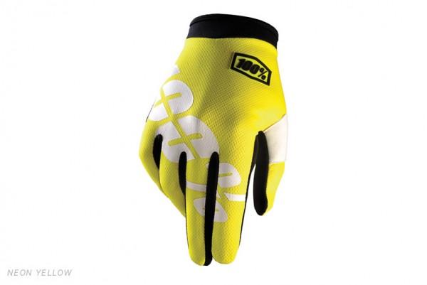 100% I-Track Glove - neon yellow
