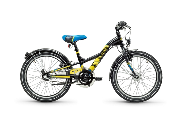 S´COOL XXlite 20 steel 3-speed black/yellow matt