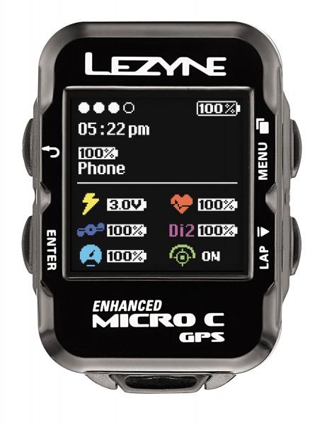 Lezyne bike computer micro color GPS black