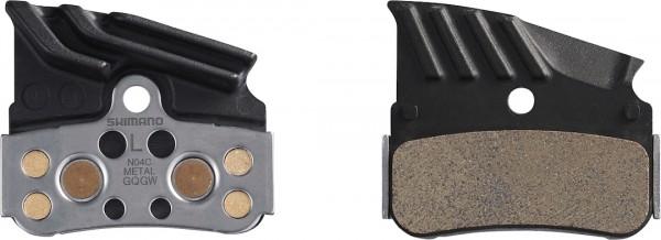 Shimano Scheibenbremsbeläge mit Kühlrippen NO4C Metal