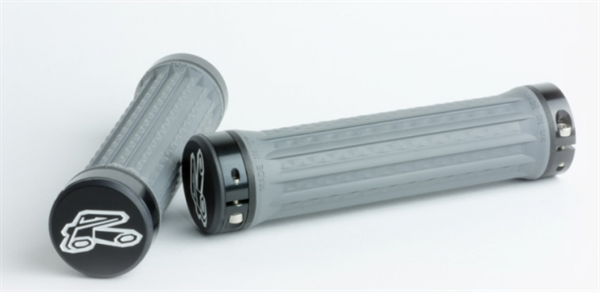 Renthal Traction Lock-On Grips medium - darkgrey