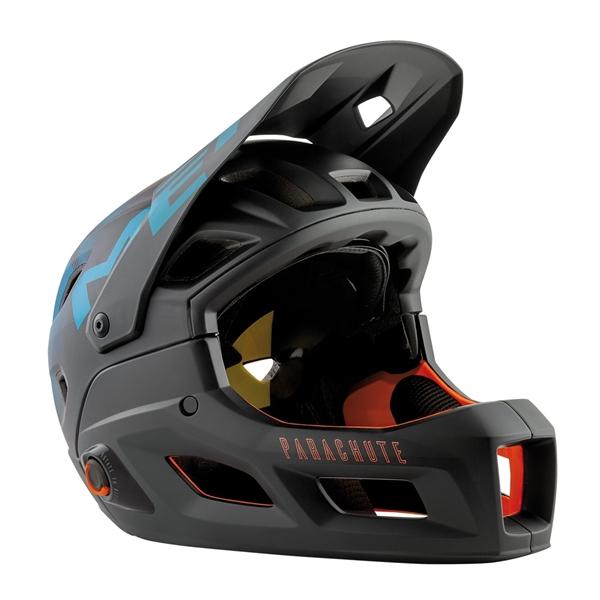 Met Parachute MCR MIPS Helm Black Petrol Blue Matt