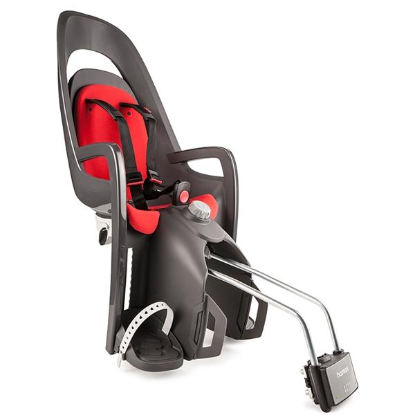 Hamax Caress Kinderfahrradsitz mit abschließbarer Halterung rot schwarz