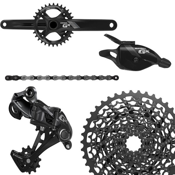 SRAM Groupset GX1 - 1000 GXP 1x11-speed, black