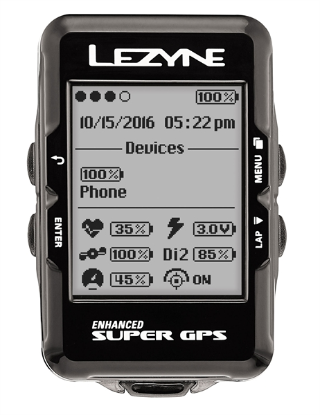 Lezyne bike computer super GPS with heart rate monitor black
